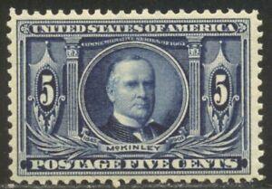 U.S. #326 Mint VF NH w/Cert - 1904 5c Louisiana
