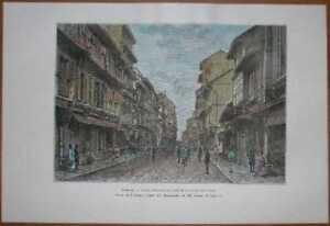1883 Reclus print BOMBAY MUMBAI, INDIA