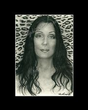 Cher singer actress drawing from artist art Image piacture