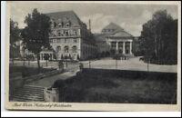 Bad Elster Sachsen Postkarte ~1920/30 Blick auf den Sachsenhof und Kur Theater