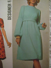 Vintage Simplicity 9660 HIGH WAIST DRESS DESIGNER FASHION Sewing Pattern Women