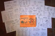 Frankenstein Jr & Impossibles Animators' Model Sheets Hanna Barbera Art Guide