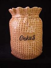 Vintage Nelson McCoy Pottery Burlap Bag Cookie Jar ~ Nelson McCoy Art Pottery