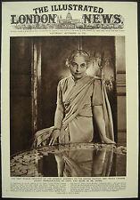 Vijaya Laksmi Pandit 1st Woman President UN General Assembly 1953 Page Article