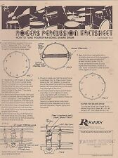 #MISC-0289 - 1970 7 page ROGERS DRUM fact sheet set