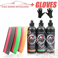 Autobrite Direct Correct IT Pad & Polish kit - 250ml Compound Car Polish + Glove