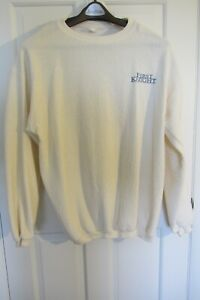 Sweater (XL) Cream - FIRST KNIGHT embroidered, 1995 Richard Gere, Sean Connery