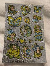Vintage Sticker Mark I Sniff Sheet Fairies Butterflies Glitter 1984 80s