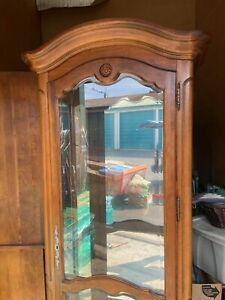 Ethan Allen Country French Curio Cabinet
