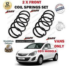 Para Vauxhall Opel Corsa Van D 1.3CDTI 2006-- > Nuevo 2X Delantero Muelles Set