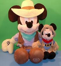 Adorable Cowboy Sheriff Mickey Mouse Disney Store Frontierland Med n Sm 18 n 9""
