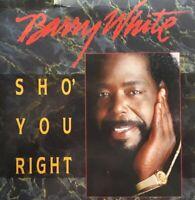 "Barry White-Sho' You Right Vinyl 7"" Single.1987 A&M USA 614."