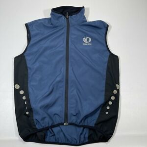 Pearl Izumi Vest Men's Medium Blue Vented Cycling Cycle Riding