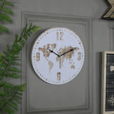 Horloges murales vintage/rétro blancs pour le salon