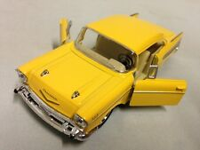 """1957 Chevrolet Bel Air 5"""" Diecast PullBack Action 1:40 Scale Kinsmart Toy Yellow"""