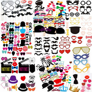 Wedding Birthday Party Props Photo Booth Funny Selfie Hat Events Photography Set