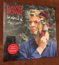 "DAVID BOWIE IS I'M AFRAID OF AMERICANS 7"" RED VINYL BARCELONA EXCLUSIVE RARE!"