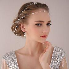 Accessoires idéal coiffure/collier mariée fil de perles élégant facile à poser