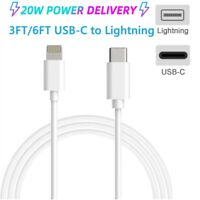 20W PD 6ft USB-C Fast Charging Cable For iPhone 12 11 Pro Max XR XS Max SE iPad