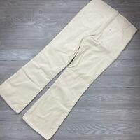Vintage 1976 Levi's Durawale Plus Corduroy Bell Bottoms Pants Cream 38x34 P81