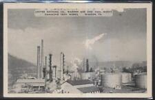 Postcard WARREN PA  Local Area Industrial Area Bird's Eye Aerial view 1930's