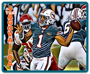 Tua Tagovailoa Miami Dolphins Character #1 Rendering NFL Football MAGNET