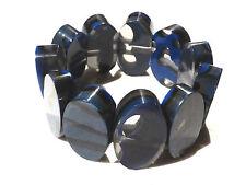 Bijou lucite bleue bracelet sur élastique bangle