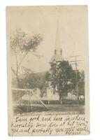 RPPC ME Church in BREESPORT NY New York Real Photo Postcard