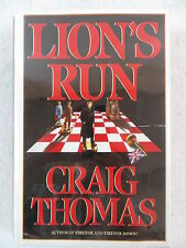 Craig Thomas Lion'S Run Bantam Books 1985 1st Edition