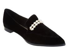 Marc Fisher Velvet Slip-On Loafers Shoes Kneel  Black New Women's Size 5 NEW