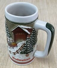 Xmas Vintage 1984 Budweiser Beer Clydesdale's Holiday Stein Mug Ceramarte Brazil