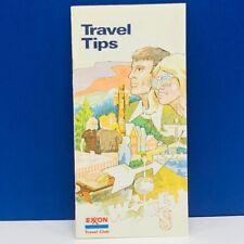 Exxon vintage gas oil ephemera advertising touring service paper Travel Tips 2