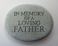 m In Memory of a loving father Bereavement memorial Stone remembrance garden