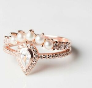 Bridesmaid Accessory Gold Rhinestones Ring Bridal Jewelry Wedding Ring Blossom Ring Bridesmaid Gift Pearl Flower Ring Gold Pearl Ring