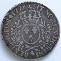 FRANCE LOUIS XV ECU AUX BRANCHES D'OLIVIER 1726 A