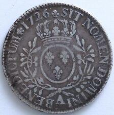 FRANCE LOUIS XV ECU AUX BRANCHES D'OLIVIER 1726 A