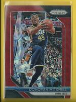 Donovan Mitchell 2018-19 Panini Prizm PRIZMS RUBY WAVE Card # 143 Utah Jazz NBA