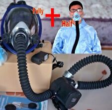 Electric AIR FED Mask Full+Half Face BREATHING Respirator Filter PAINT SPRAY Kit