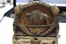 Wood Carving done for Royal Visit of King George VI to Winnipeg Canada in 1939