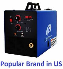Lotos Mig175  Mig Welder aluminum Gas/Gasless with free Spool Gun display stock