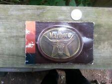 Vintage Marlboro Steer Brass Belt Buckle