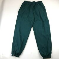 Vintage Nike Men's Lined Windbreaker Green Jogger Track Pants Size XL