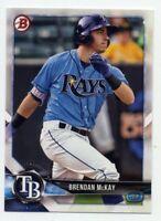 2018 Bowman #BP68 BRENDAN McKAY Tampa Bay Rays ROOKIE CARD RC PROSPECT