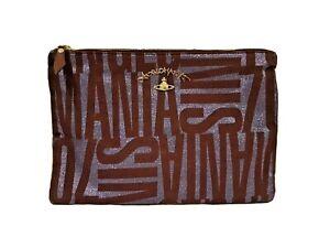 Vivienne Westwood Anglomania Logo Clutch Bag New