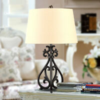 Simplicity Style E27 Diameter 17.8CM Metal+Fabric Bedroom Bedside Table Lamp