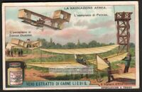 Farman And Santos-Dumont Aviation Pilot History 1910 Trade Ad Card