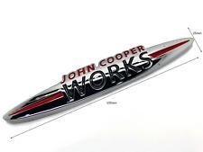 Mini John Cooper Works Badge Rear Boot Lid Trunk Tailgate Emblem Sticker JCW