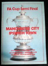 Manchester  City v Ipswich Town   FA Cup Semi Final     11-4-1981