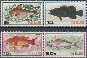 Niue 1973 Fish issue MNH set Scott# 156-159