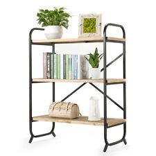 Vintage Industrial Wood Shelf Bookcase Storage Unit display shelf Living Room